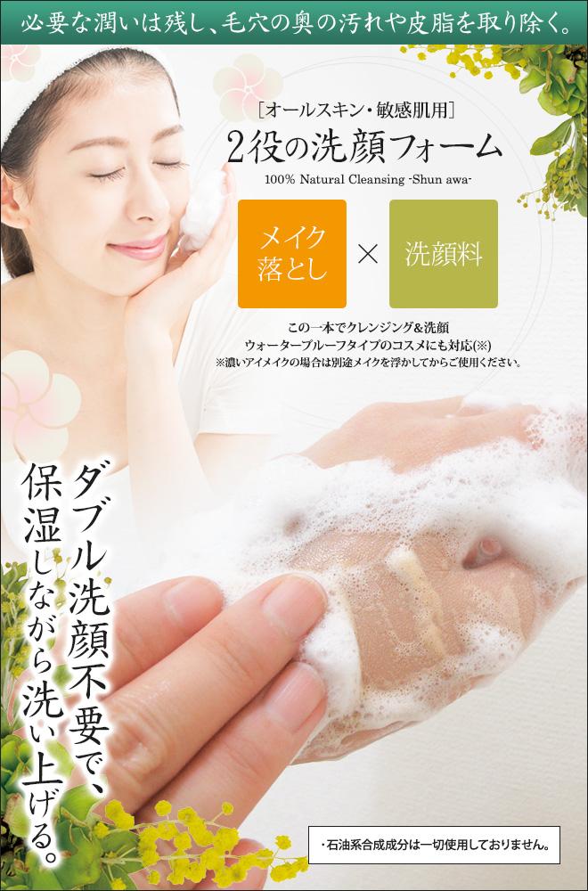 必要な潤いは残し、毛穴の奥の汚れや皮脂を取り除く。