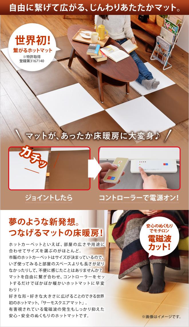 世界初!繋げるマットの床暖房