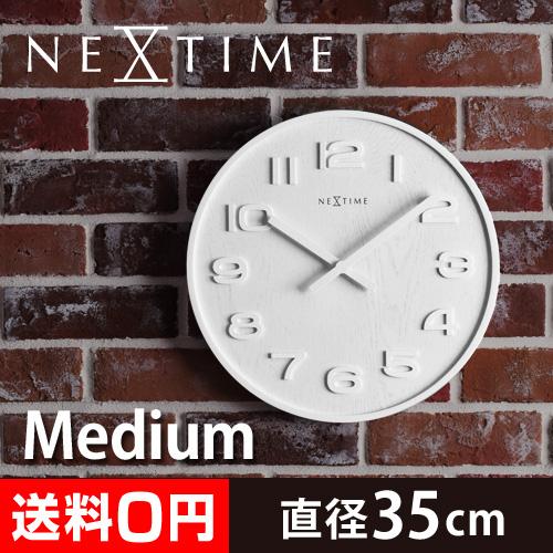 NEXTIME ウッドウッド ミディアム 壁掛け時計 おしゃれ