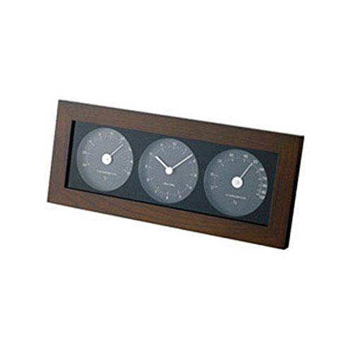 ウッド温湿時計 置時計 おしゃれ