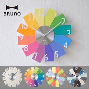 BRUNO カードウォールクロック 壁掛け時計 おしゃれ