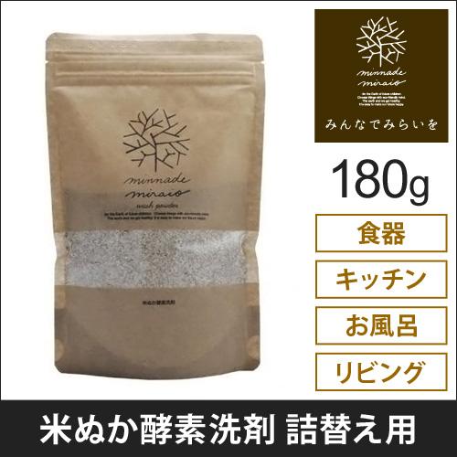 詰替米ぬか酵素洗剤 詰替え用 みんなでみらいを おしゃれ