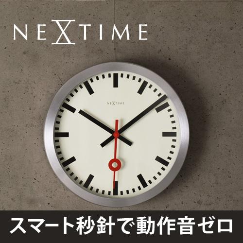 NEXTIME ステーション 壁掛け時計 ストレートラインタイム 【もれなく送料無料の特典】 おしゃれ