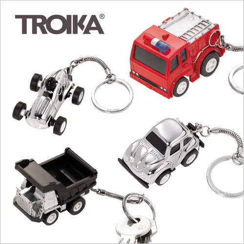 TROIKA キーリング ミニカーシリーズ おしゃれ