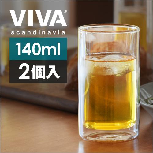 VIVA ダブルウォール ストレートグラス ミディアム 【レビューで選べるAの特典】 おしゃれ