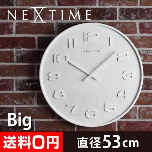 NEXTIME ウッドウッド ビッグ 壁掛け時計 おしゃれ