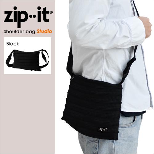 zipit スタジオ ショルダーバッグ ブラック おしゃれ
